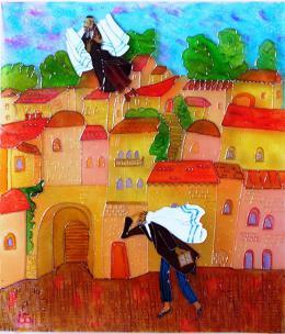 Большой Марина. Золотой Иерусалим ( 53x61 см / авторская техника / 2016 г. )
