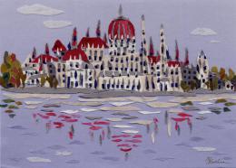 Gershman Marina. Budapest, Parliament ( 18x13 см / ткань / авторская техника / 2012 г. )