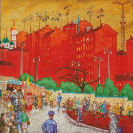 Каплан Самуил. Красные здания ( 1984 г. )