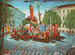 Каплан Самуил. Киев предпраздничный ( 1976 г. )