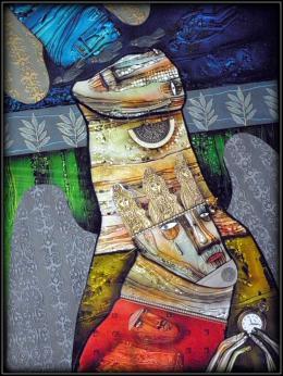 Буньков Сергей. без названия ( 50x60 см / стекло / авторская техника / 2012 г. )