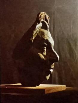 Фирер Олег. Писатель Шира Горшман (профиль). Бронза. ( 32x35 см / другое / 1975 г. )