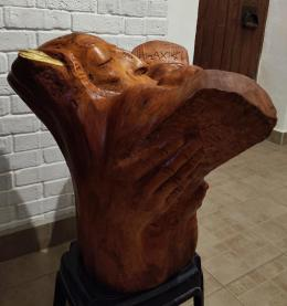 Фирер Олег. Моисей со скрижалями ( трертий разворот ) ( 55x60 см / дерево / 2021 г. )