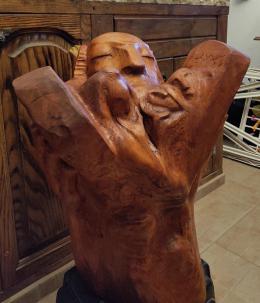 Фирер Олег. Моисей со скпижалями ( 55x60 см / дерево / 2021 г. )