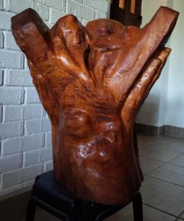 Фирер Олег. Моисей со скрижалями ( шестой разворот ) ( 55x60 см / дерево / 2021 г. )