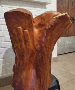 Фирер Олег. Моисей со скпижалями ( четвёртый разворот ) ( 55x60 см / дерево )